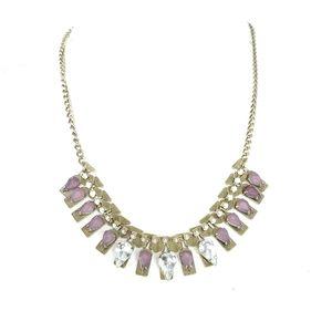 Loft Purple Rhinestone Statement Necklace